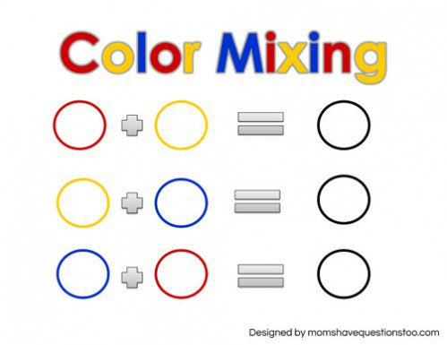 Pictures Color Mixing Worksheet