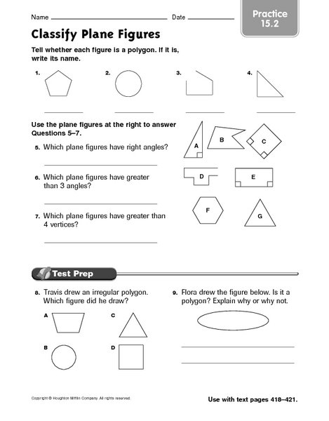 Plane Figures Worksheets The Best Worksheets Image Collection