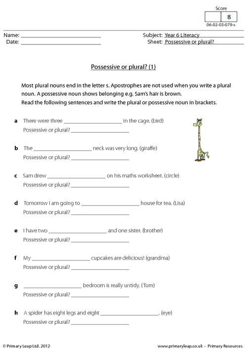 Possessive Or Plural  (1)