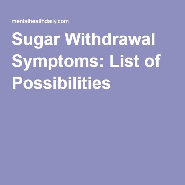 Post Acute Withdrawal Syndrome Worksheet New Best 25 Sugar