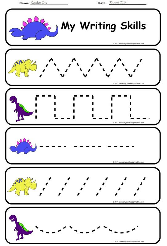 Pre Writing Skills Worksheet Worksheets For All