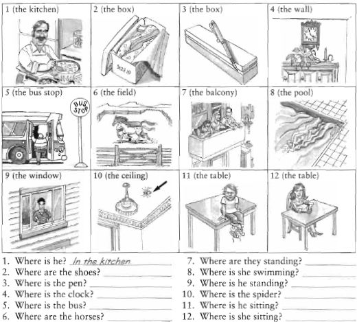 Preposition Of Place Exercises Pdf