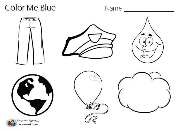 Preschool Color Blue Worksheets