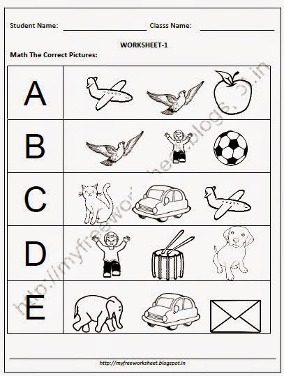 Preschool English Worksheets Free Worksheets For All