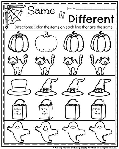 Preschool Halloween Worksheets October Kindergarten Worksheets