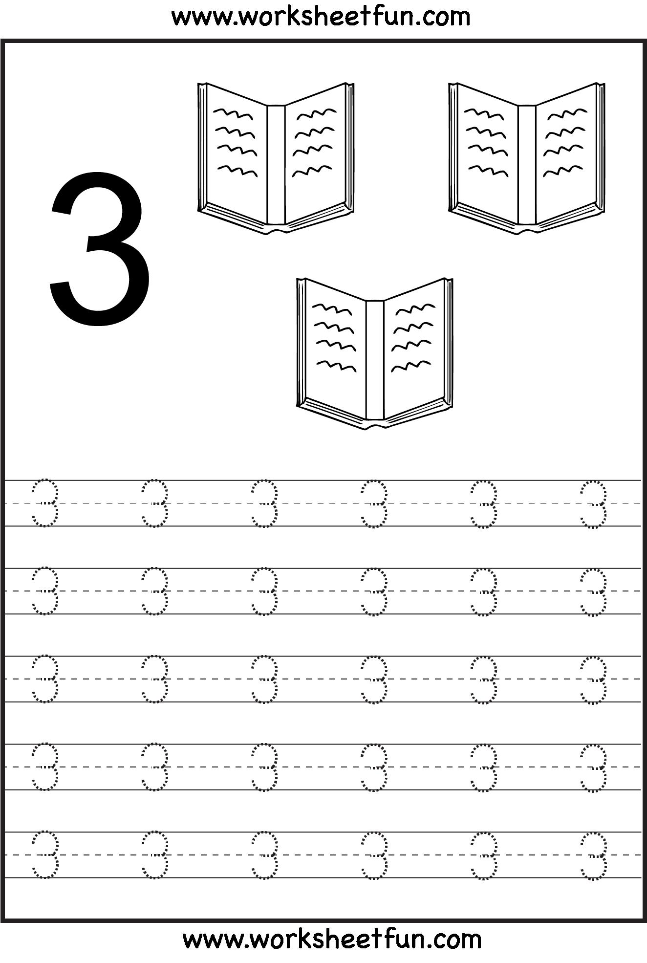 Preschool Worksheets Number 3 The Best Worksheets Image Collection
