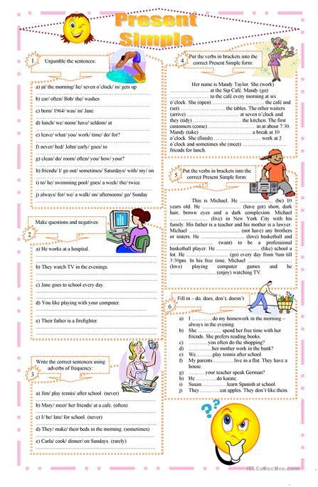 Present Simple Exercises Worksheet