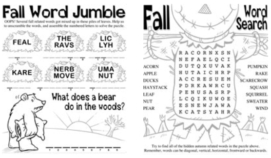 Printable Fall Worksheets Worksheets For All