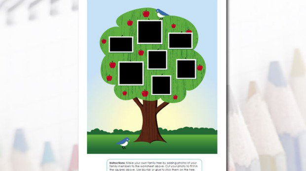 Printable Family Tree Activity Worksheets For Preschool