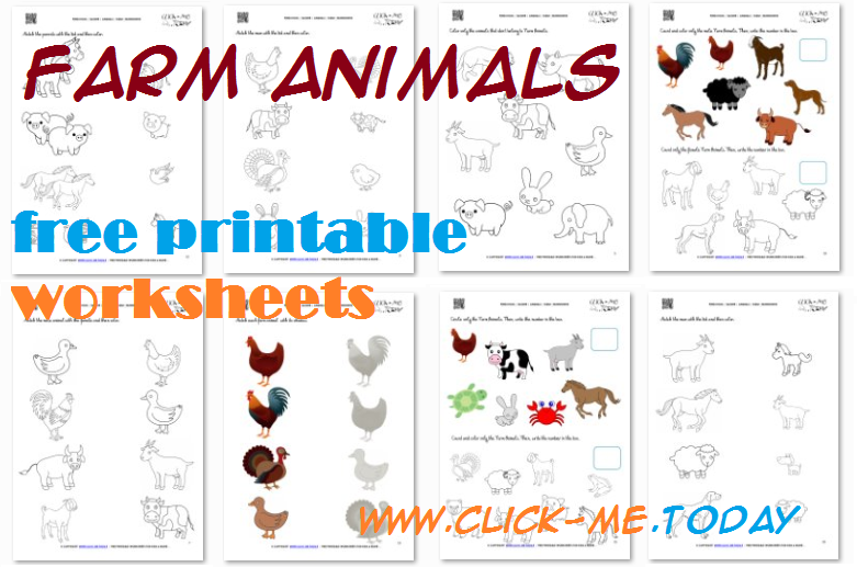 Printable Farm Animals Worksheets & Activities