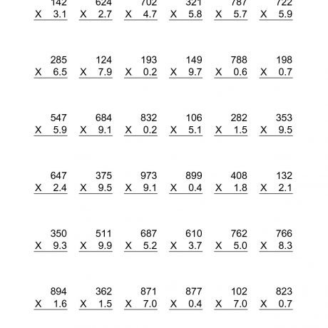 Printable Multiplication Sheets 5th Grade Multiplying Decimals By