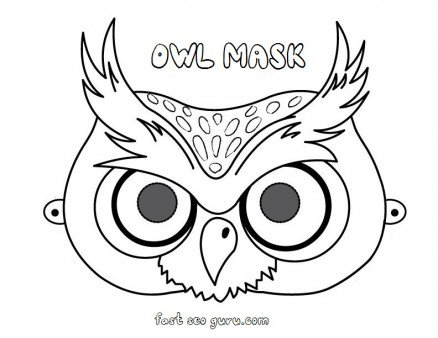 Printable Owl Mask Preschool Craft Coloring Pages