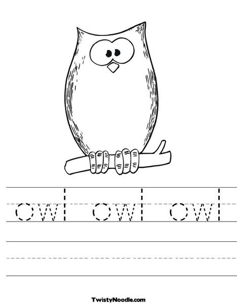 Printable Owl Worksheets @ruth Thompson Color Sheet For Party