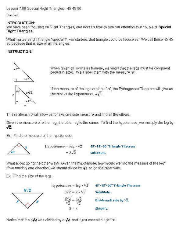 Printables  45 45 90 Triangle Worksheet  Messygracebook Thousands