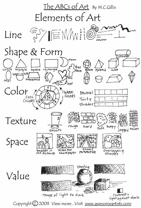 Printables  Elements Of Art Worksheet  Darkcontinents Thousands Of