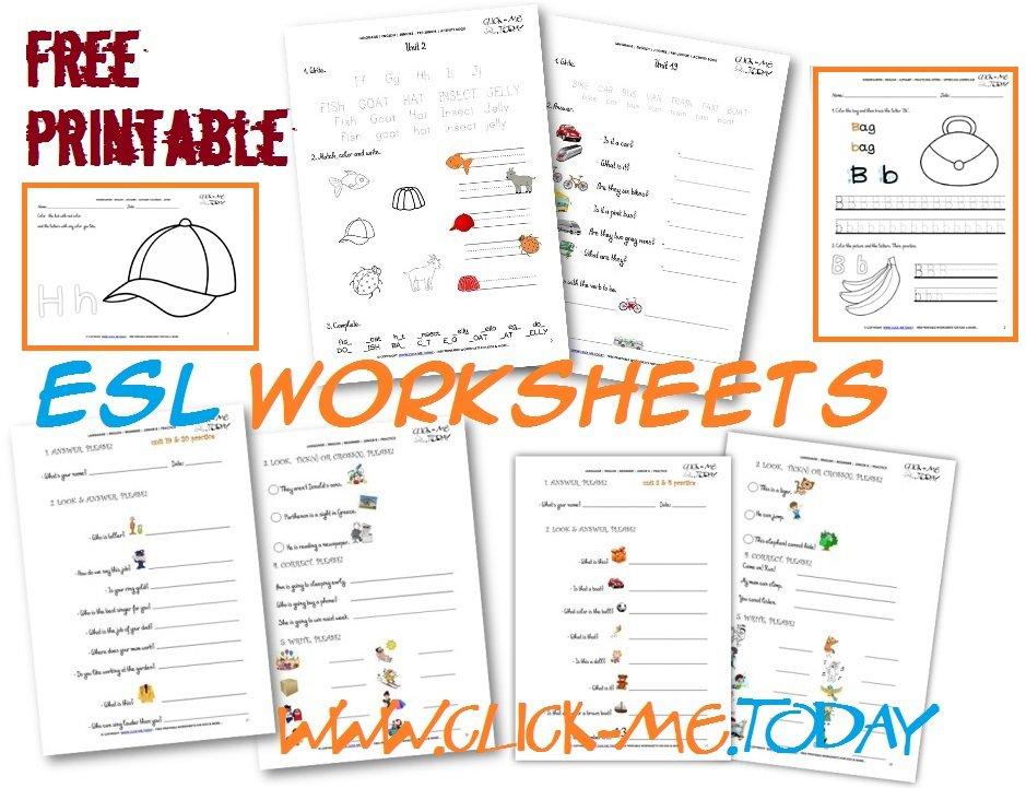 Printables  Free Esl Worksheets  Messygracebook Thousands Of