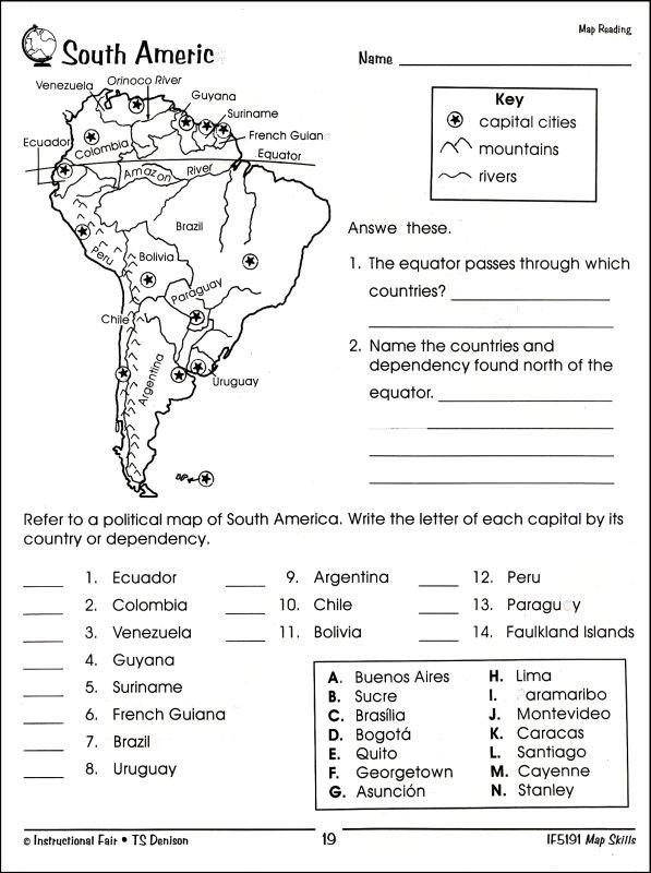 Printables  Map Skills Worksheets 3rd Grade  Clickmt Thousands Of