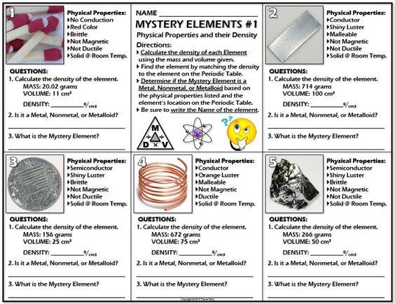 Printables  Properties Of Metals And Nonmetals Worksheet  Clickmt