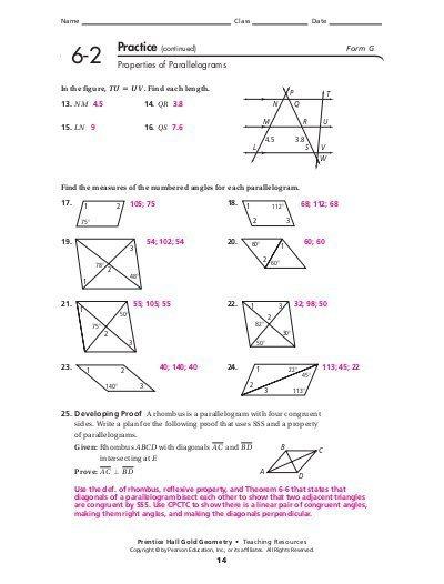 Printables  Properties Of Parallelograms Worksheet  Darkcontinents