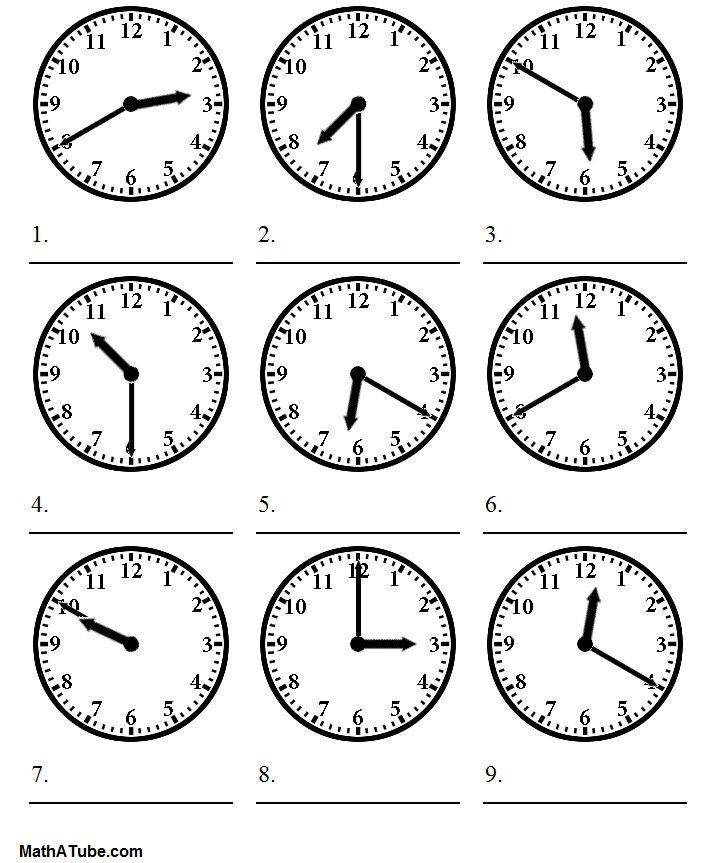 Printables  Tell Time Worksheets  Messygracebook Thousands Of
