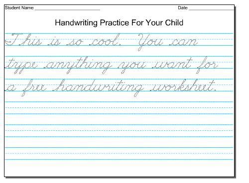 Printing Handwriting Worksheets Worksheets For All