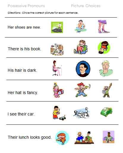 Pronoun Worksheet 1st Grade Worksheets For All