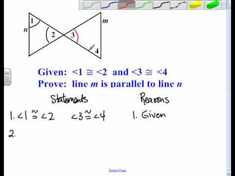 Proving Lines Parallel Worksheet Worksheets For All