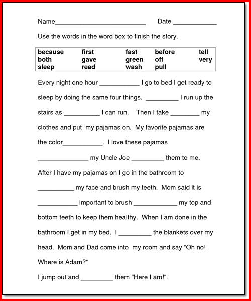 Reading And Writing Worksheets For 2nd Grade Worksheets For All