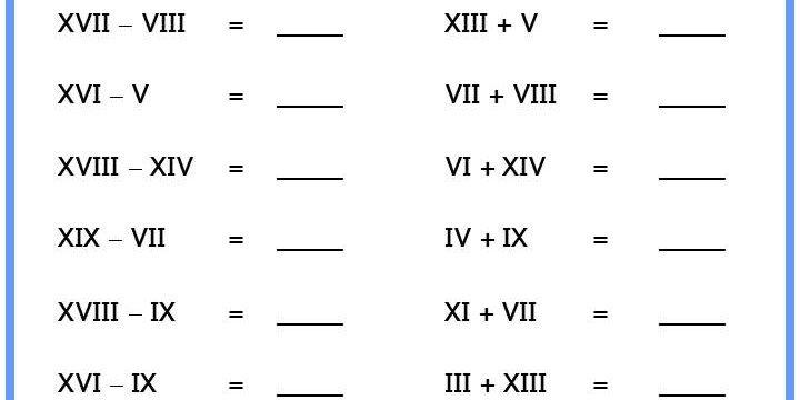 Roman Numerals Calculations