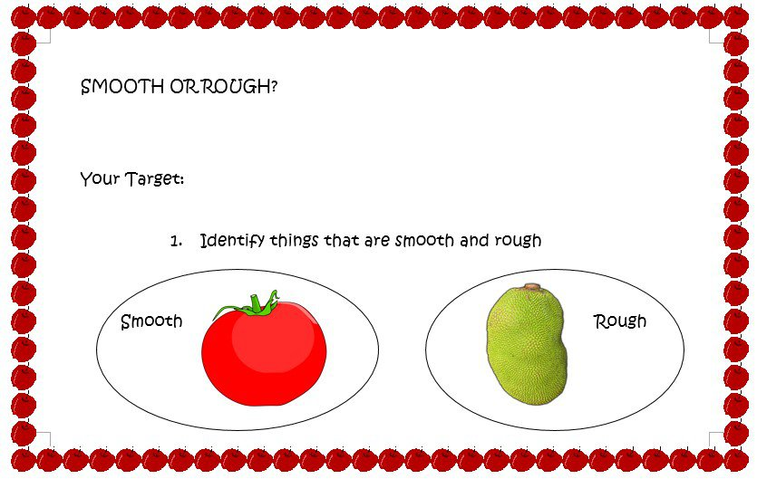 Rough Or Smooth  (free Downloadable Worksheet)