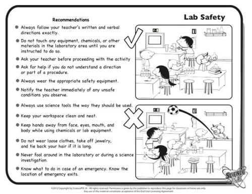 Safety In The Lab Worksheet Worksheets For All