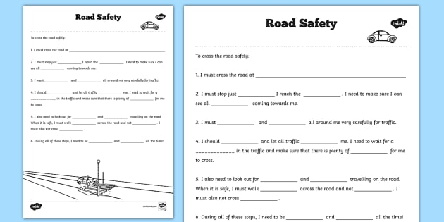 Safety Worksheets