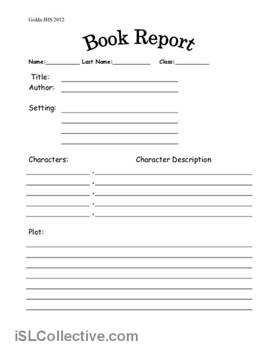 School Book Template