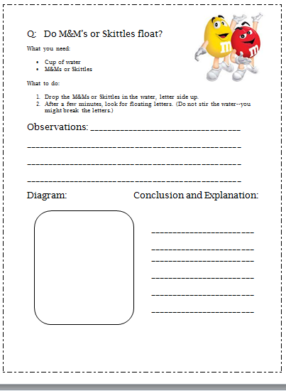 Science Project Worksheets Worksheets For All