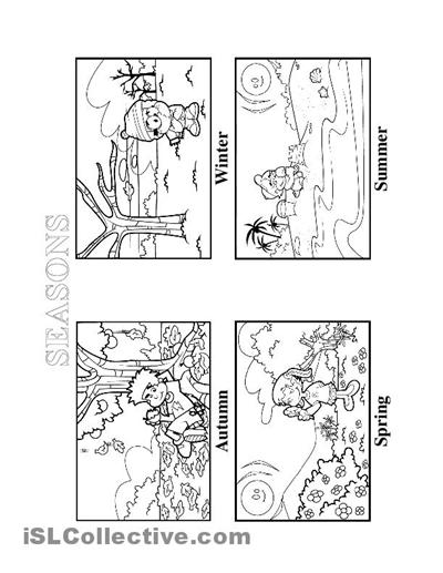 Seasons Worksheet Kindergarten Worksheets For All