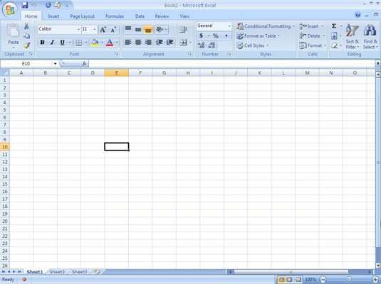 Selecting Cells In Excel 2007