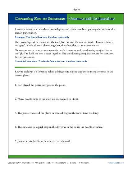 Sentence Correction Worksheets High School Worksheets For All
