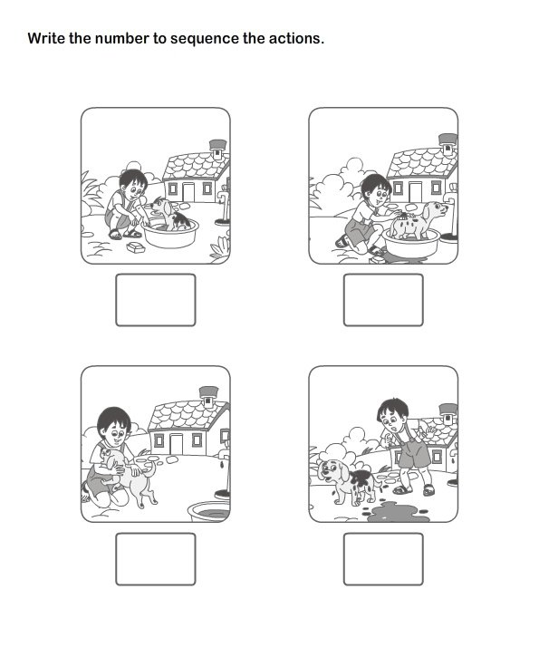 Sequence Of Events Worksheets For Kindergarten Best 25 Sequencing