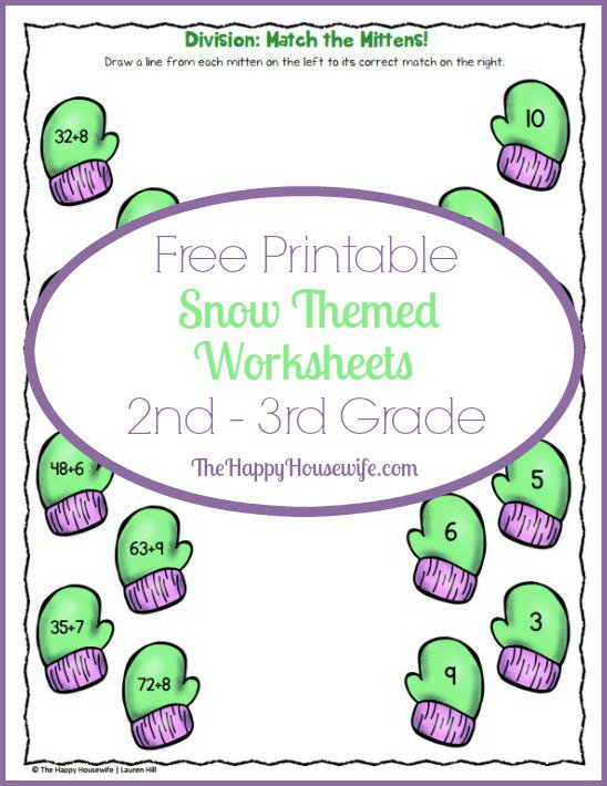 Snow Themed Worksheets  Free Printables