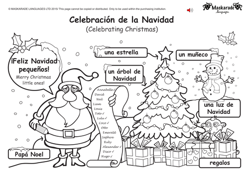 Spanish Christmas Worksheets Free Printables