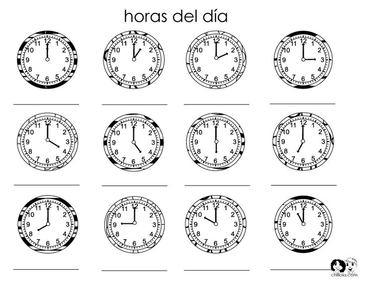 Spanish Time Worksheets Worksheets For All