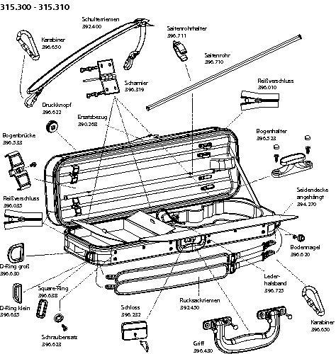 Spare Parts For Gewa Cambridge Violin Case [301510