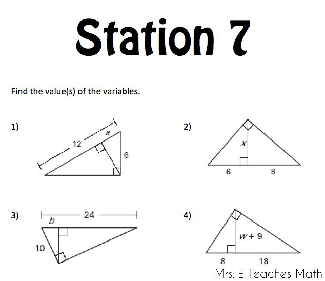 Special Right Triangles Worksheet Right Triangles Unit Mrs E