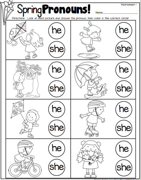 Speechie Freebies  Spring Pronouns! Pinned By Sos Inc  Resources