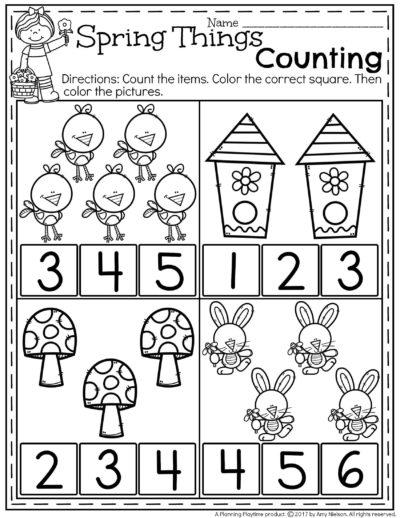 Spring Preschool Worksheets