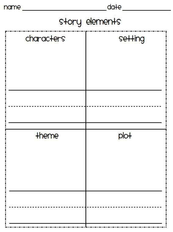 Story Elements Worksheets Classroom Freebies Too Story Elements