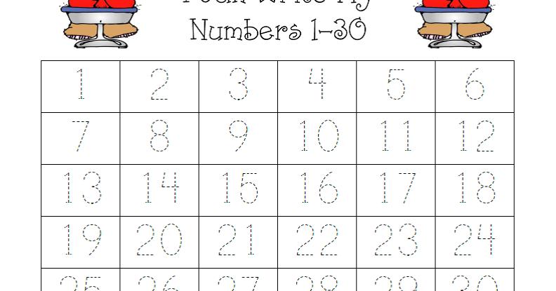Sweet Kinders  Number Practice