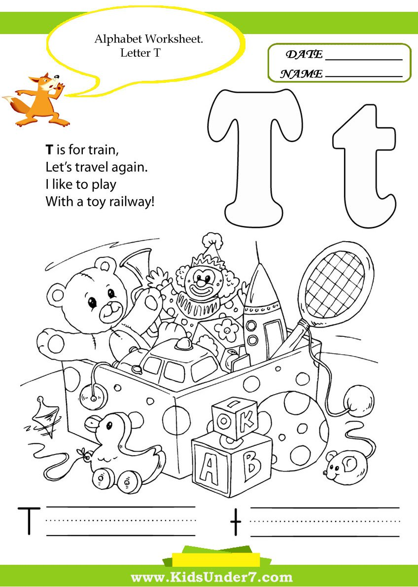 T Worksheets For Kindergarten Alphabet Letter W Math Curriculum