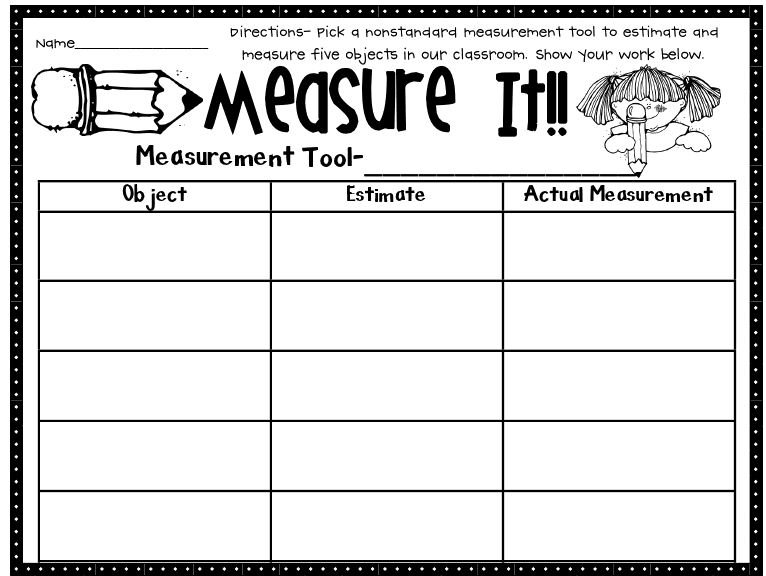 Teaching Measurement Worksheets Worksheets For All