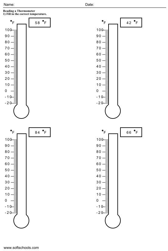 Temperature Worksheets For 2nd Grade  1